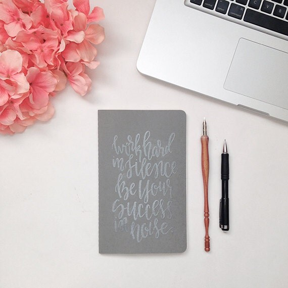 Moleskine Cahier Calligraphy Notebook Hand By Papercasestudio