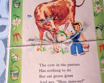 Vintage Linen Books Lot Childrens Illustrations