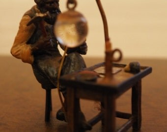 """Stunning Vienna Bronze Figurine """"Working Cobbler"""" Bergmann, C. 1900 - FREE SHIPPING"""