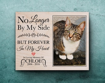 cat memorial pet memorial photo on wood pet memorial frame pet bereavement pet memorial picture frame pet memorial gifts