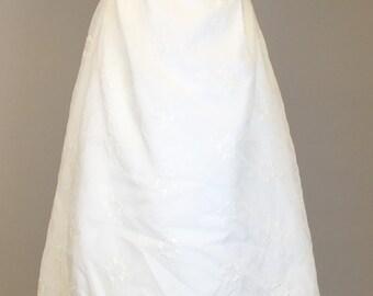 Vintage 60s, 70s, Bridal, Princess Dress, Regency Costume // Jane Austen Dress, 1960s, 1970s, Women Size Small