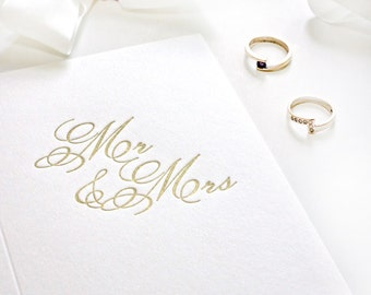 Wedding Card - Mr and Mrs - Letterpress