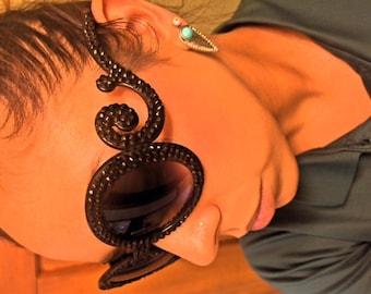 Black Sunglasses- Crystal Rhinestones