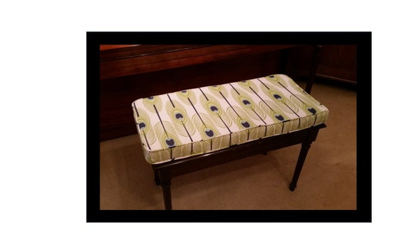 Custom Piano Bench Cushion And Cover