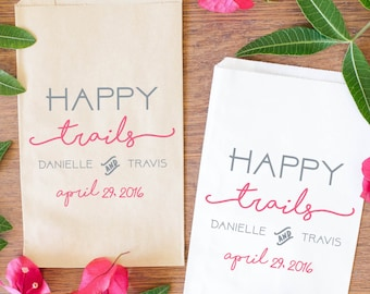 Wedding Trail Mix Favor Bags, Happy Trails Treat Bags, Custom Candy Bags for Special Events-BWE-27/BWE-28