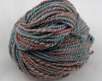 Peanuts - Aran weight hand spun yarn - 70/15/15% Shetland/Baby Alpaca/Tussah Silk