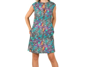 "Sleeveless African Print Tunic ""Janet"""