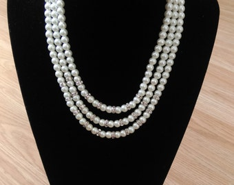 Mutli layered pearl necklace