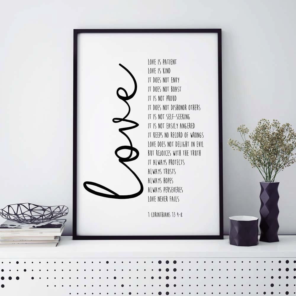 Bible Verse Print Love Is Patient 1 Corinthians 13