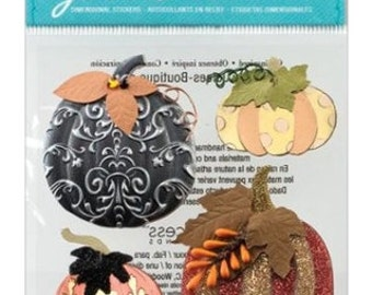 Jolee's Boutique Metallic Pumpkins Dimensional Stickers, Jolees Halloween Stickers