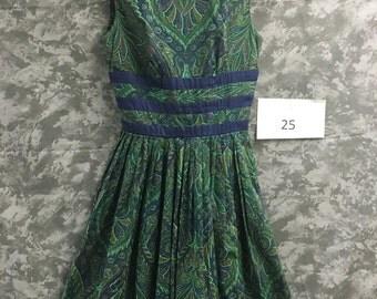 1950's Jane Stevens Summer Dress