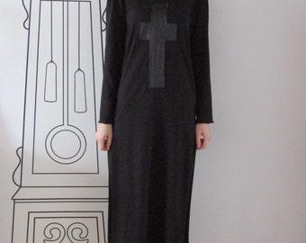 Extra Long Sleeve Shirt Dress/Extra Long Black Shirt Dress/Extra Long Blouse by FabraModaStudio / D126
