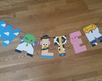 Toy Story Birthday Banner, Toy Story Banner, Toy Story Letters, Toy Story Inspired, Toy Story Nursery, Woody Banner, Handmade Banner