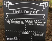 first day of school sign template - kpop etsy