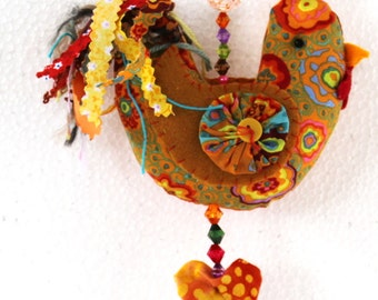 Kitchen decorations, Home & Living, Home Decor, Wall Decor, Wall Hanging, House warming Gift, Fabric Roosters, Fabric Hens,  D87
