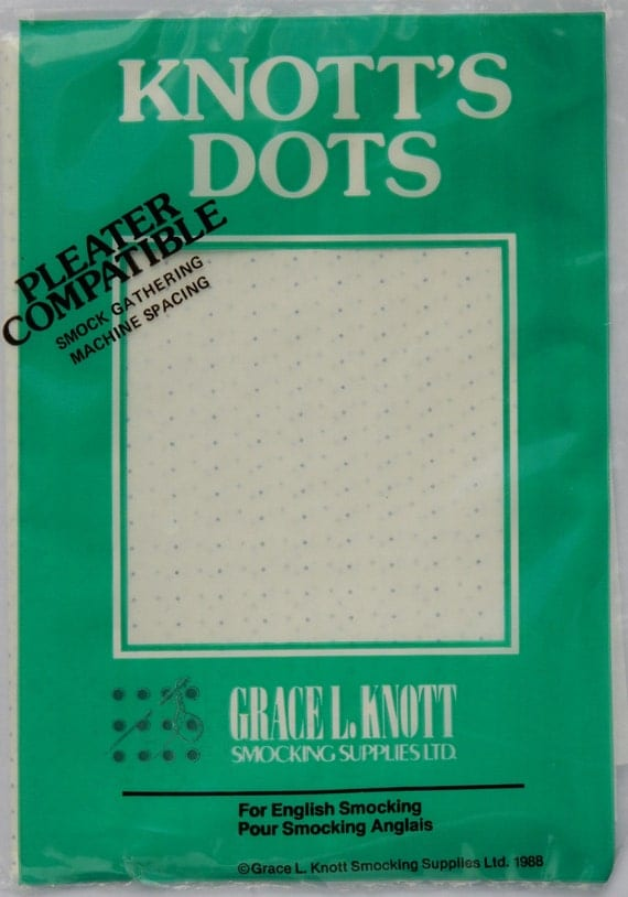 The original Knott's Dots! 24 row, iron on transfer dots, smocking dots, pleater dots
