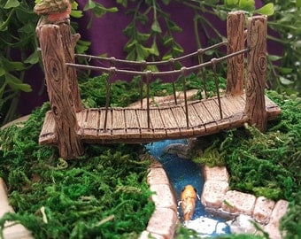 "Miniature 4"" Suspension Bridge"