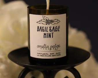 Basil, Sage, & Mint Candle