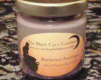 Hand Poured Blackened Amethyst Scented 4 oz. Soy Container Candle *** Clearance