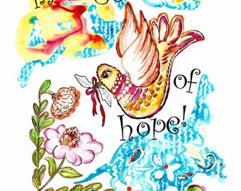 India Ink/watercolor ~Sweet Message