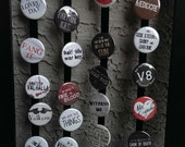 """Fury Road buttons 1.25"""" / 32mm pin back badges: We Are Not Things, War Boys, Vuvalini"""