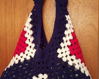 Crocheted Granny Square Purse