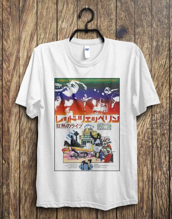 Led Zeppelin Japan Tour T Shirt Led Zeppelin Jimmy Page