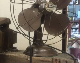 Vintage Steampunk Robbin & Myers Industrial Fan