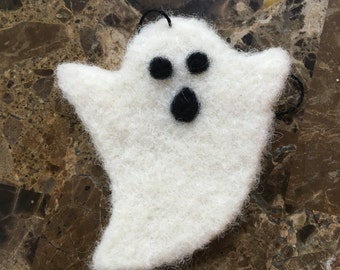 Needle Felted Ghost Ornament