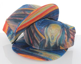 THE SCREAM Painting Snapback Hat