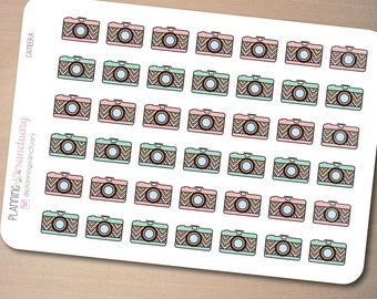 Camera Planner Stickers Perfect for Erin Condren, Kikki K, Filofax and all other Planners