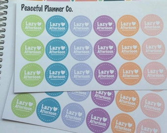Lazy Afternoon Stickers - Erin Condren Life Planner