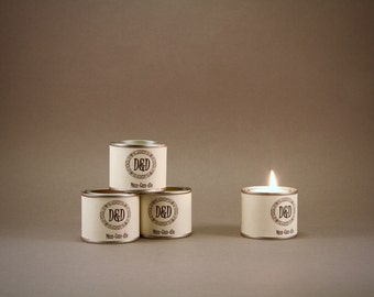 Man-candle - small paint pot 55g  Eco soya candle in Hangover cure