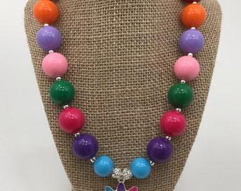 Girl Scout Daisy Daisy Petals Daisy Troop Rainbow Chunky Bubblegum Necklace