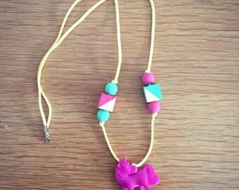 Pretty pony necklace