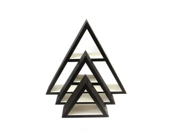 Modern Shelves, Mountain Shelf Wall Decor, Modern Geometric Shelves, Triangle Shelf, Wood Triangle Shelving, Pyramid Shelf, Urban Shelf