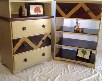 Hand Distressed Antique/Vintage Small Dressers - Lightweight