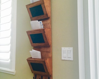 """Rustic mail sorter approximately 36""""x9.25""""x5"""""""