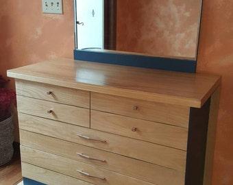 Harmony House Mid Century dresser chest w/ mirror