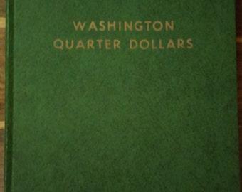 Vintage Green Whitman Coin Collecting Album Folder for Washington Quarter Dollars (1932-1959) #9215
