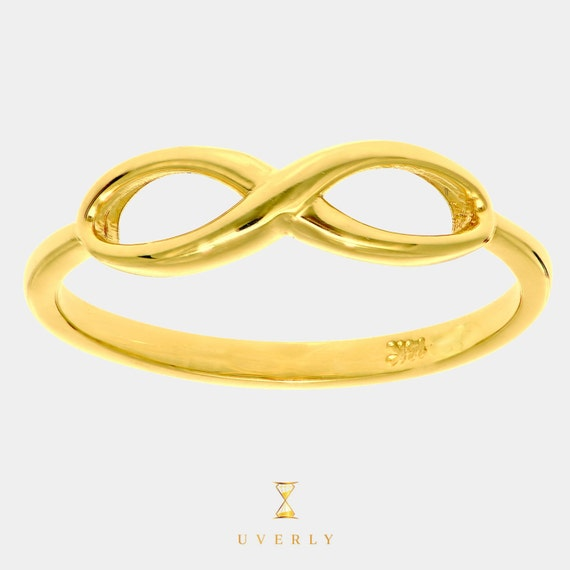 14k Yellow Gold Womens Uverly Infinity Ring