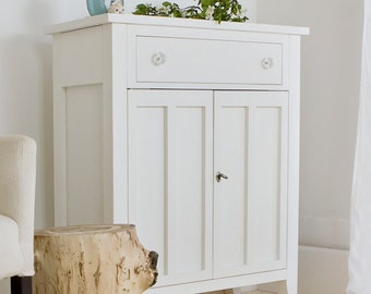 Shabby Chic White Small Sideboard Credenza
