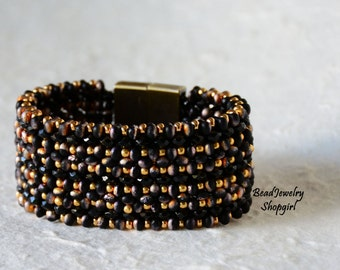 Black Fire is Forever Etched in my Heart Bracelet