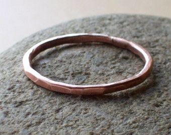 Hammered Copper Ring - Arthritis Ring - Copper Ring - Copper Stack Rings - Stacking Rings - Stackable Rings - Copper Rings for Arthritis