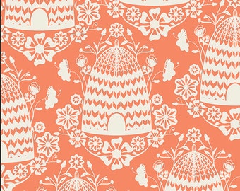 ON SALE Art Gallery Fabrics Honey House Peach - Sweet as Honey Collection by Bonnie Christine - Premium Cotton Quilting Fabric - One Yard