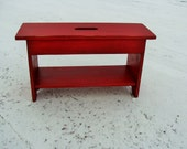 Shoe Storage Coffee Table Entryway Bench Rustic Bench Farmhouse Cottage Industrial Modern Red Custom