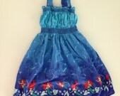 Vintage Handmade Ariel The Little Mermaid Sundress Size 3T