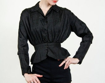 SALE- Antique Victorian Blouse  . XS . 1800s