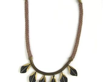 Diamonds On The Inside Textile Necklace