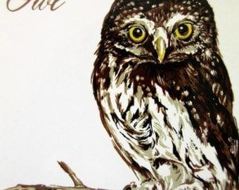 Vintage Tile, Owl Tile, Vintage Screencraft Tile, Phyllis Howard Bird Tile, Screencraft Owl, Vintage Ceramic Tile, Midcentury Tile